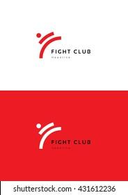 Fight club logo template.