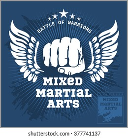 Fight club MMA Mixed martial arts fighting logo