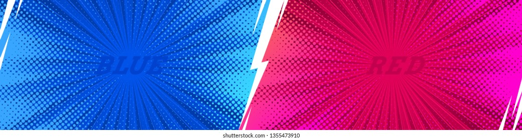 Fight comics style  backgrounds with lightning. Vector illustration. Versus. vs.