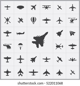 fight jet icon. aviation icons universal set for web and mobile