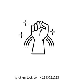 Fight, Lgbt, rainbow icon. Element of gender Identity icon. Thin line icon for website design and development, app development. Premium icon
