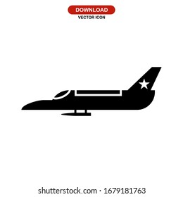 fighter aircraft icon or logo isolated sign symbol vector illustration - high quality black style vector icons
