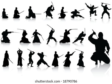 ninja silhouette images stock photos vectors shutterstock