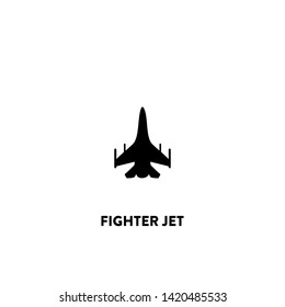 fighter jet icon vector. fighter jet sign on white background. fighter jet icon for web and app