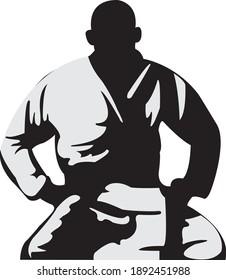 fighter on his knees jiu-jitsu