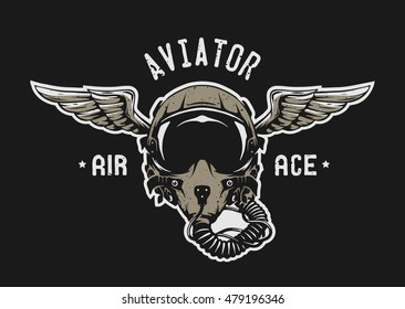 Pilot Wings Images, Stock Photos & Vectors | Shutterstock