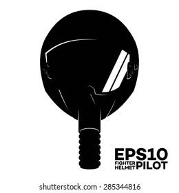 Fighter Pilot Helmet silhouette