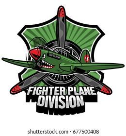 fighter plane division badge