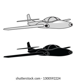 fighter plane, vector