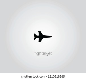 fighter-jet  icon vector