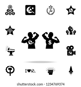 The fighters of communism and capitalism icon. Detailed set of communism and socialism icons. Premium graphic design. One of the collection icons for websites, web design, mobile app