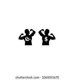 The fighters of communism and capitalism icon. Element of communism illustration. Premium quality graphic design icon. Signs and symbols collection icon for websites, web design on white background