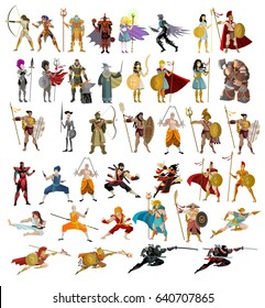 fighters warriors magic wizards male and female strong characters