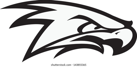 Fighting Hawk. A vector cartoon of a Raptor ready for a fight.