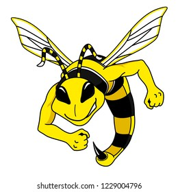 Fighting Hornet Mascot