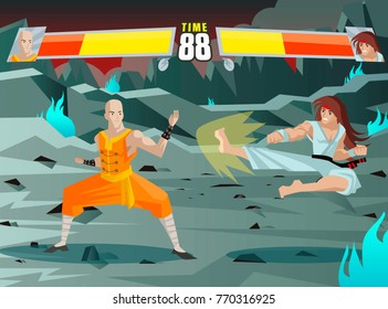 fighting video game screen