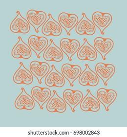 Figs pattern. Hand drawn.