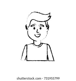 figure avatar man with t-shirt design