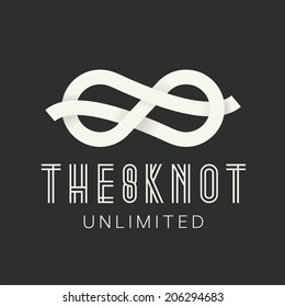 Figure Eight Knot Abstract Vector Concept Symbol Icon or Logo
