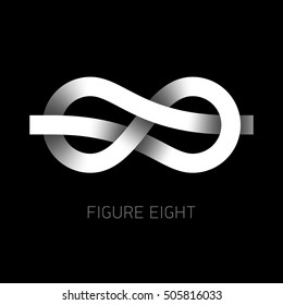 Figure eight knot symbol, 8. Vector illustration.