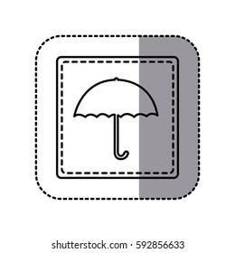 figure emblem umbrella icon, vector illustraction design image