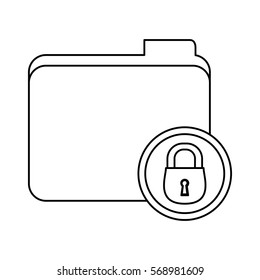 figure file data center security icon, vector illustration