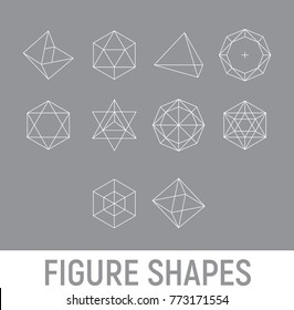 Figure geometry vector shapes