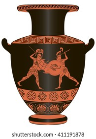 Figure Greek vases with painting of the battle.