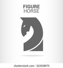Figure horse logo template