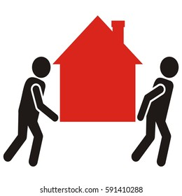 figure and house, home mobil, movers