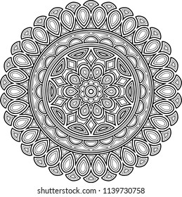 Figure mandala for coloring good mood