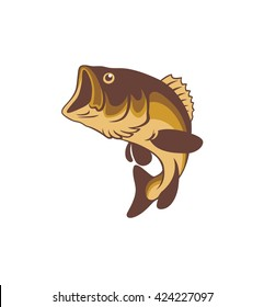 the figure shows a bass fish