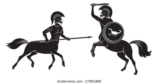 the figure shows the battle of Centaurs