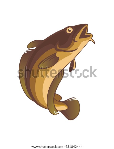 The figure shows a cod fish