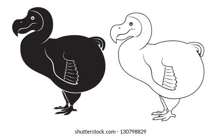 The figure shows the dodo bird