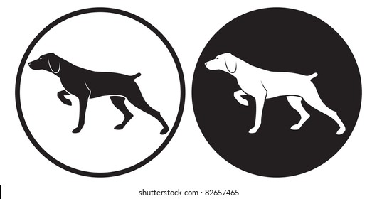 the figure shows a hunting dog
