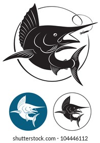 the figure shows a marlin fish