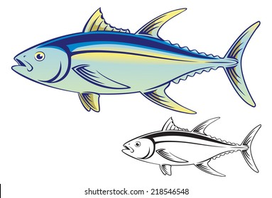 the figure shows a tuna fish