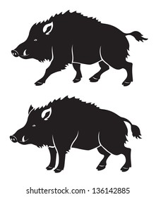 the figure shows a wild boar