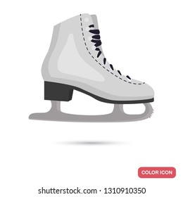 Figure skating skates color flat icon for web and mobile design