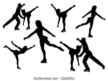 figure skating, vector