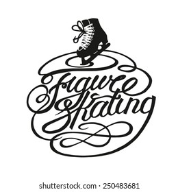 Figure skating vintage lettering