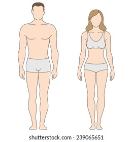 Figures of man and woman. The template for your design