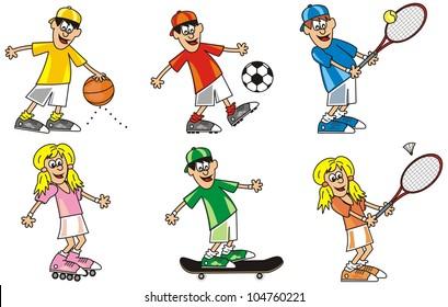 figures - sports, vector icon