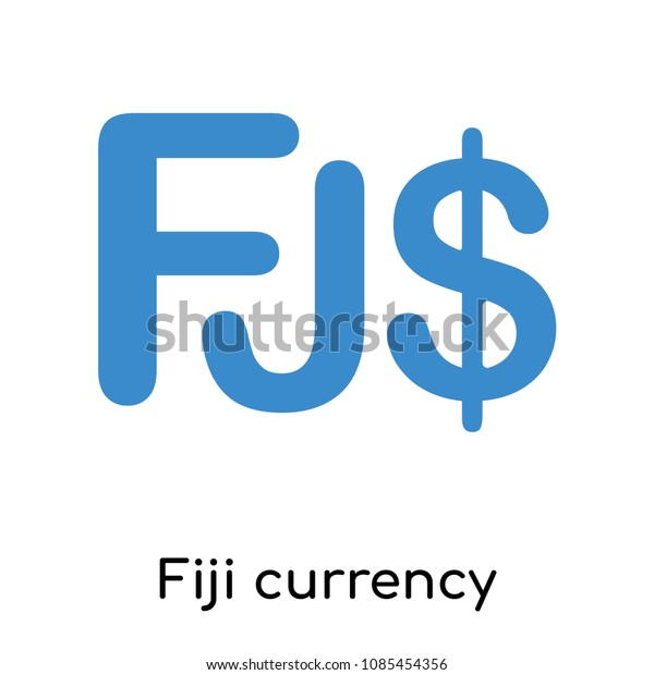 Fiji Currency Icon Isolated On White Stock Vector (Royalty