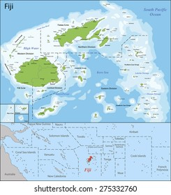 Fiji Map Images, Stock Photos & Vectors | Shutterstock