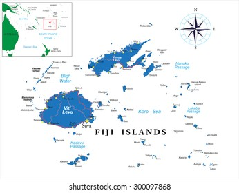 Fiji Vector Map Images Stock Photos Vectors Shutterstock