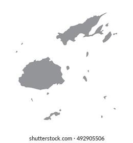 Fiji map gray