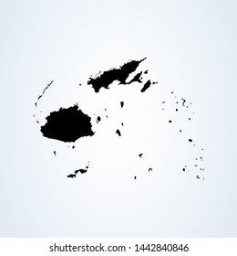 Fiji map Simple vector. modern icon design illustration.