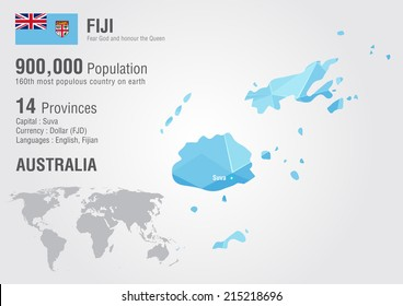 Fiji map images stock photos vectors shutterstock fiji world map with a pixel diamond texture world geography gumiabroncs Choice Image
